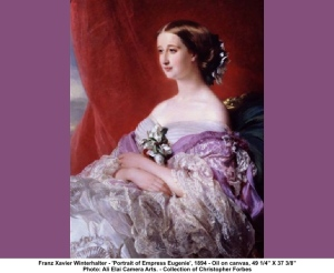 Empress Eugenie in her mauve dress